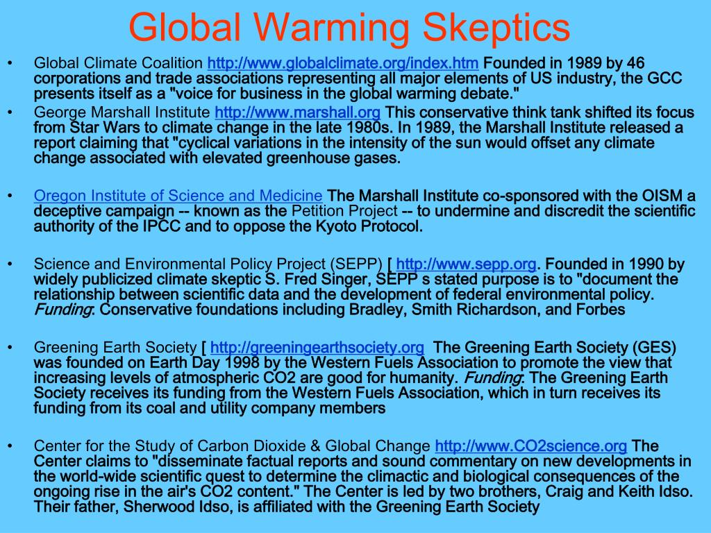 Global Warming Skeptics