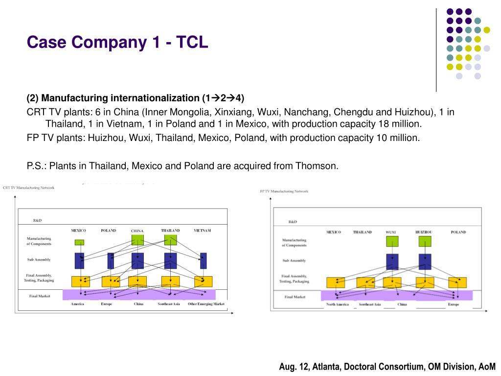 Case Company 1 - TCL