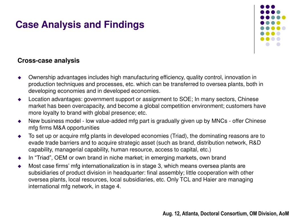 Case Analysis and Findings