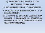 c principios relativos a los restantes derechos fundamentales de los pacientes30
