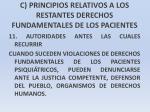 c principios relativos a los restantes derechos fundamentales de los pacientes33