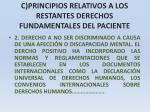 c principios relativos a los restantes derechos fundamentales del paciente