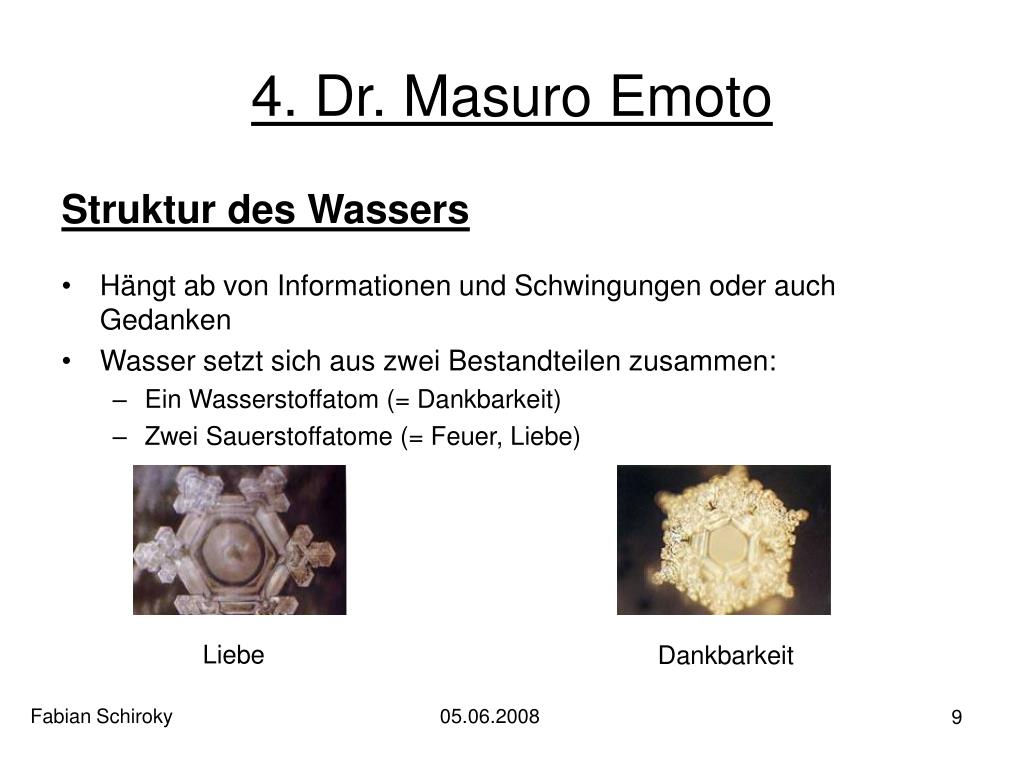 4. Dr. Masuro Emoto
