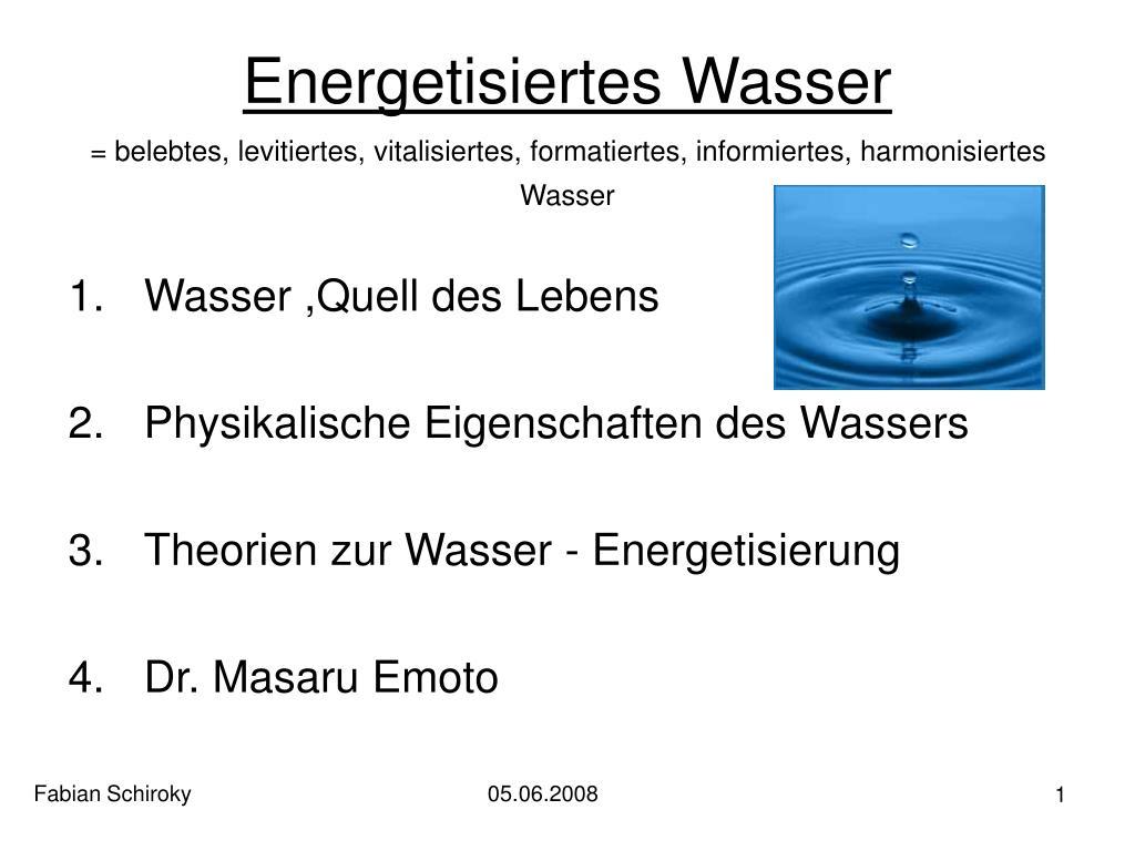 Energetisiertes Wasser