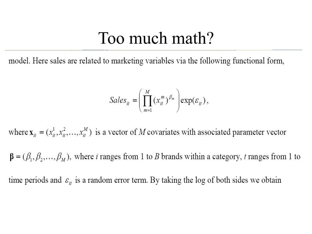 Too much math?