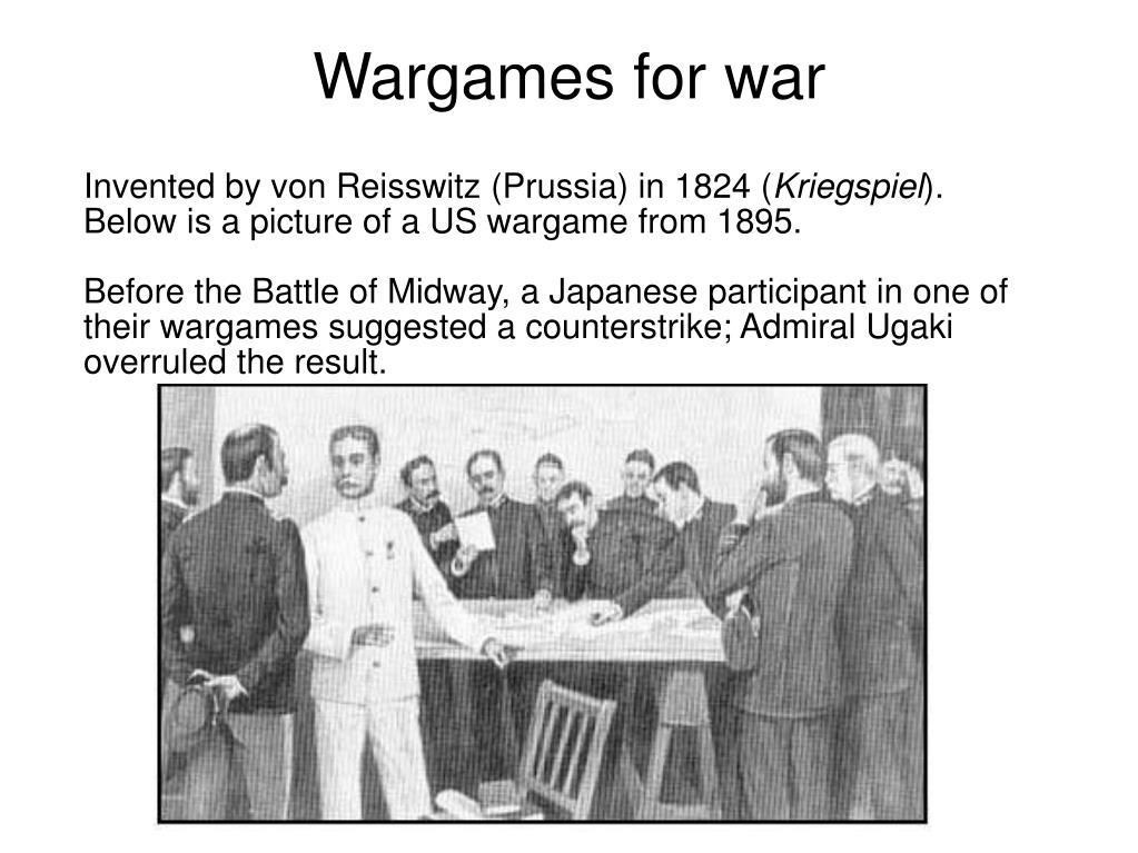 Wargames for war