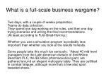 what is a full scale business wargame