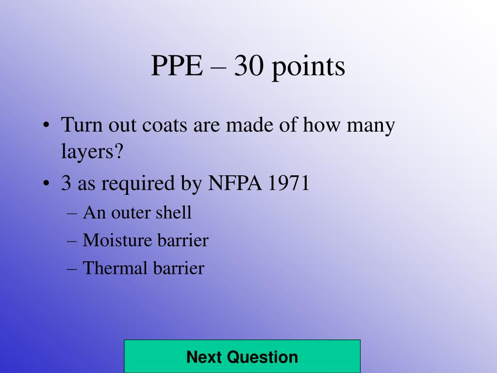 PPE – 30 points