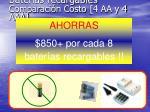 bater as recargables comparaci n costo 4 aa y 4 aaa