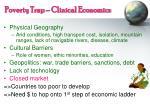 poverty trap clinical economics