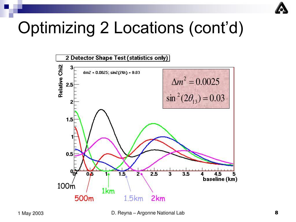 Optimizing 2 Locations (cont'd)