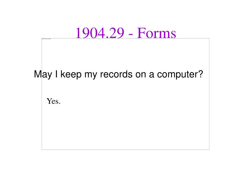 May I keep my records on a computer?