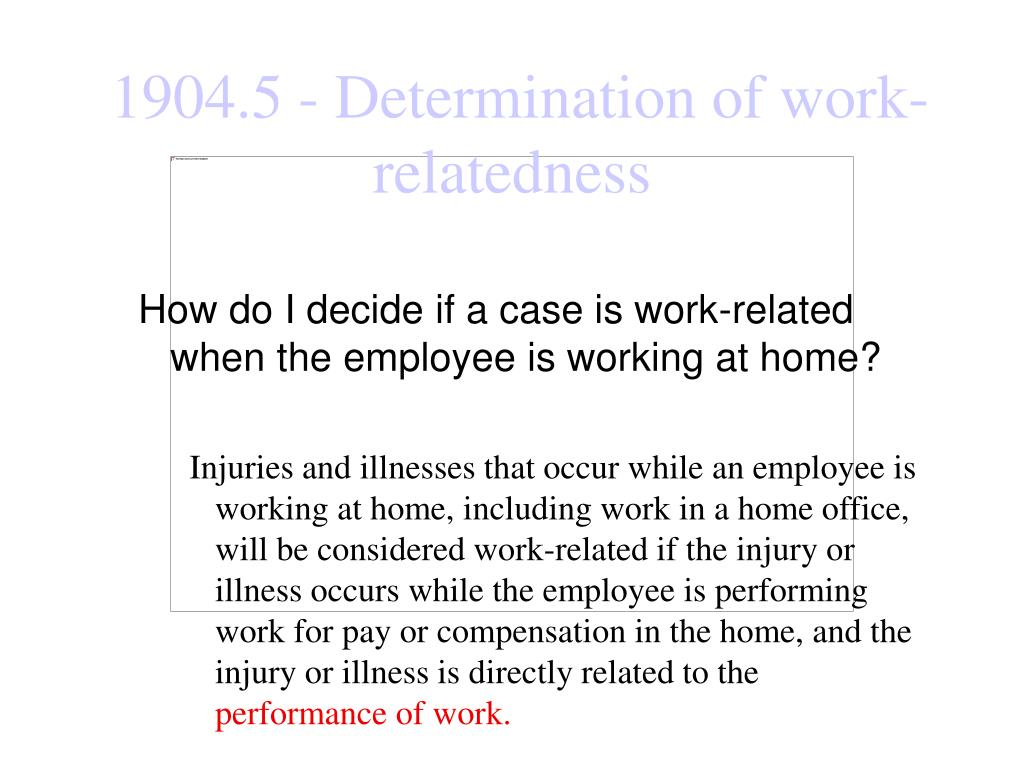 1904.5 - Determination of work-relatedness