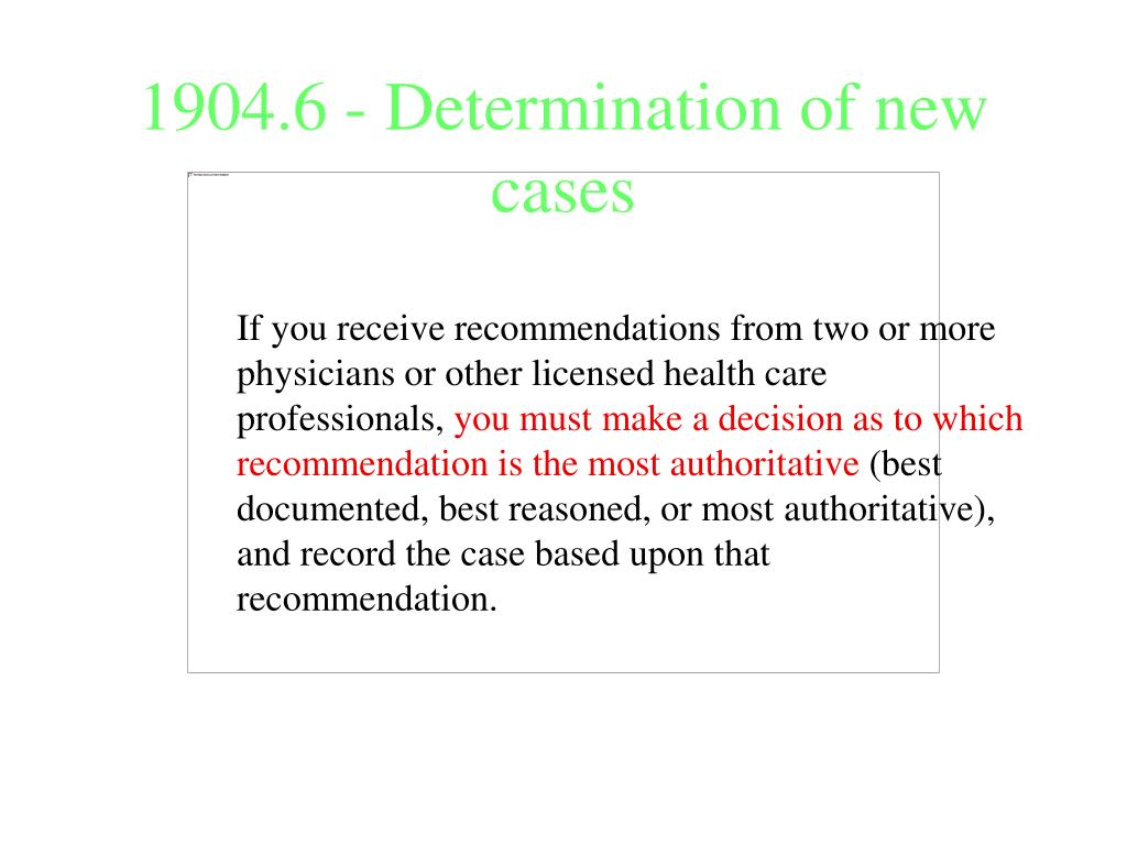 1904.6 - Determination of new cases