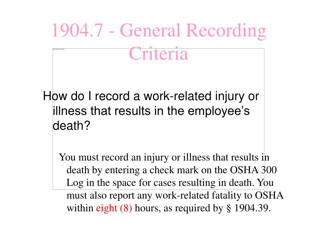 How do I record a work-related injury or illness that results in the employee's death?