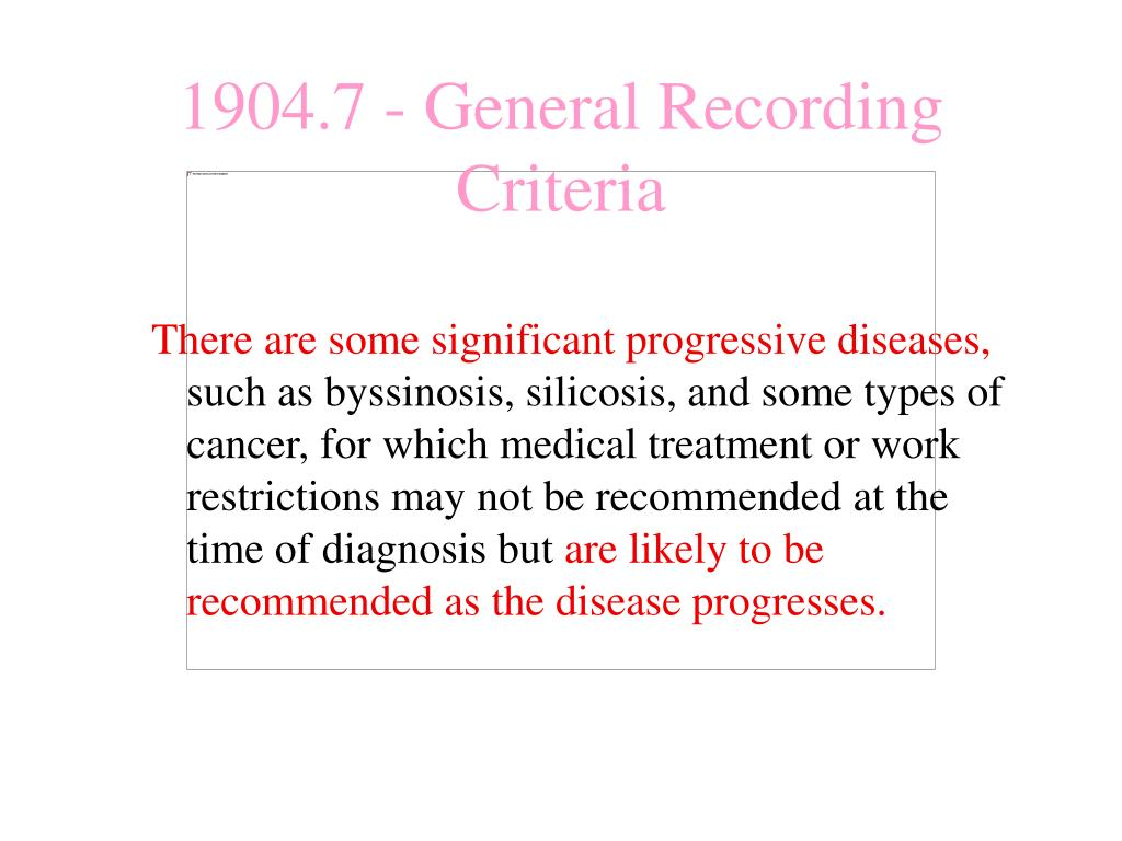 There are some significant progressive diseases,