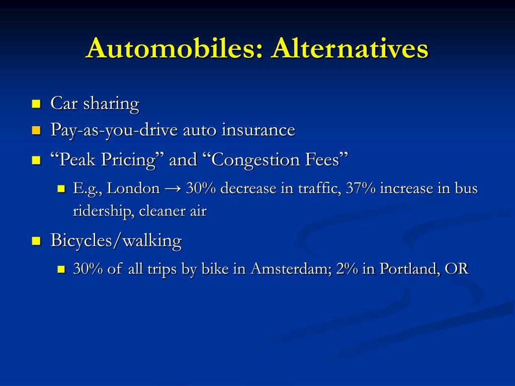 Automobiles: Alternatives