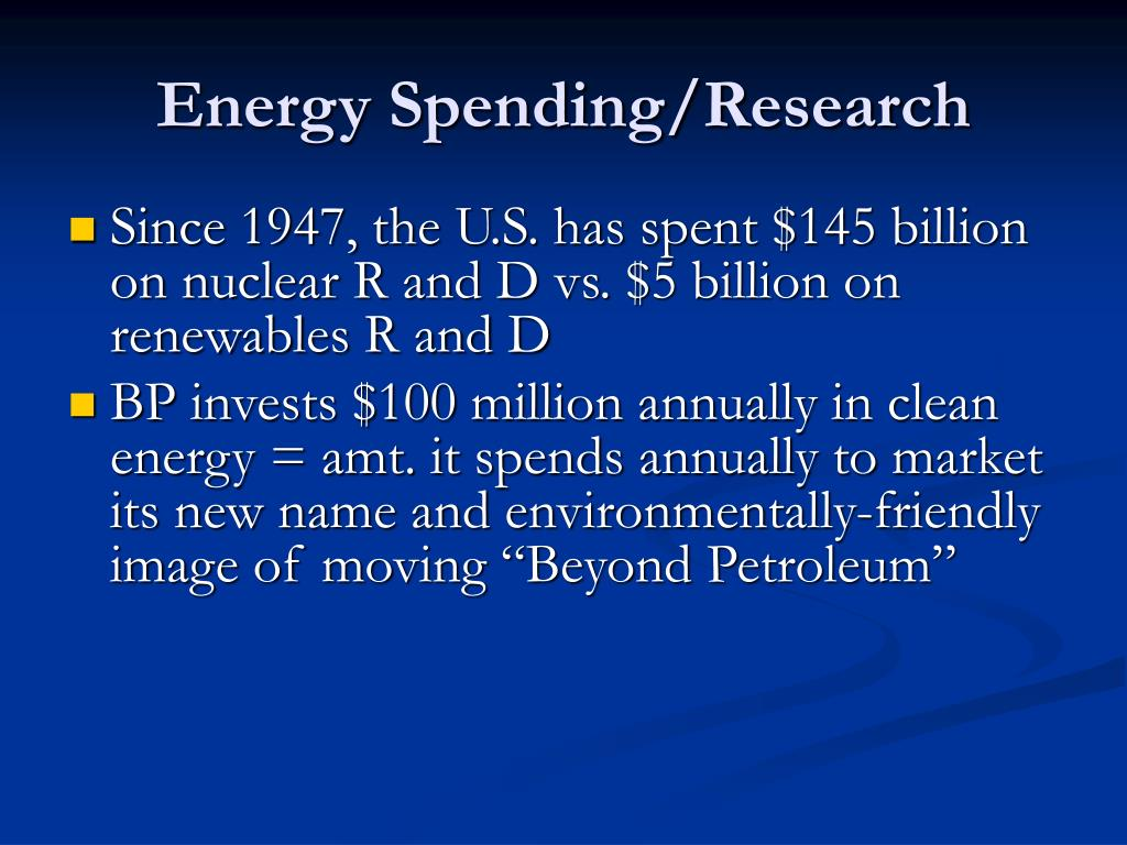 Energy Spending/Research