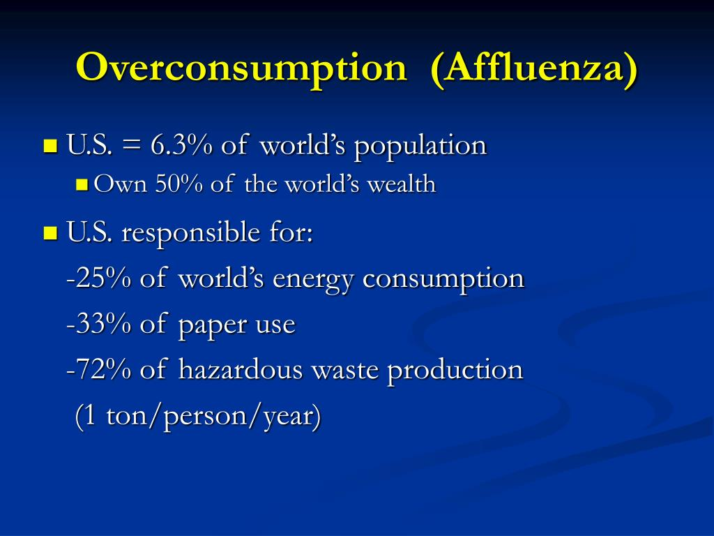 Overconsumption  (Affluenza)