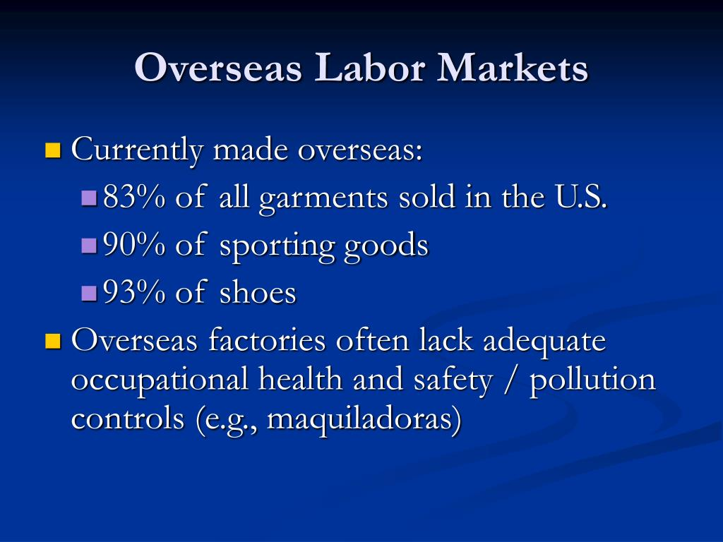 Overseas Labor Markets
