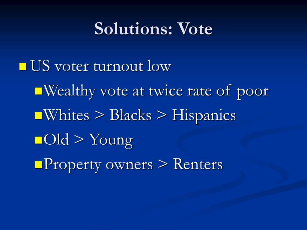 Solutions: Vote