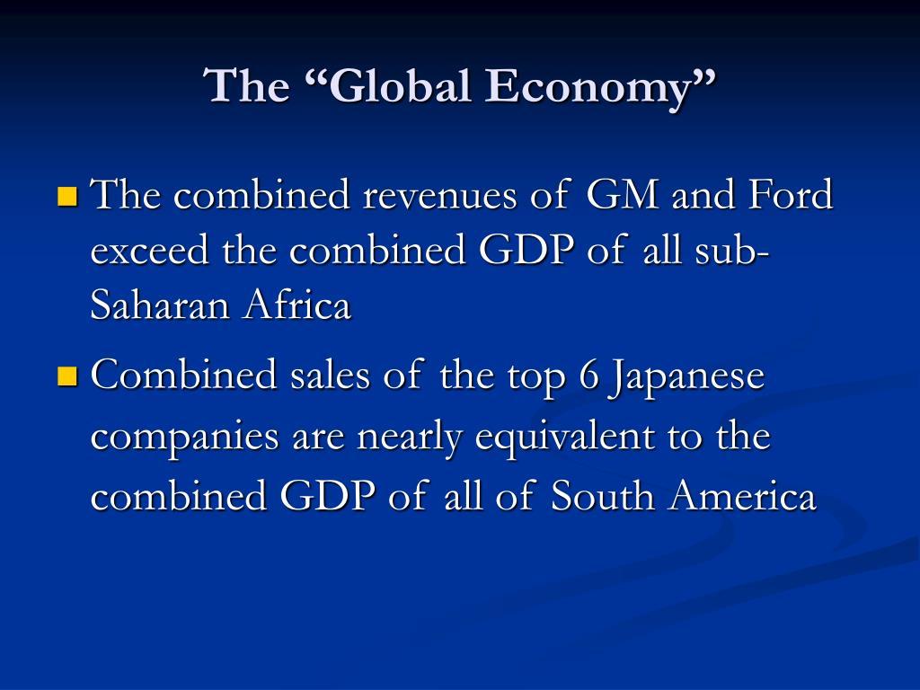"The ""Global Economy"""