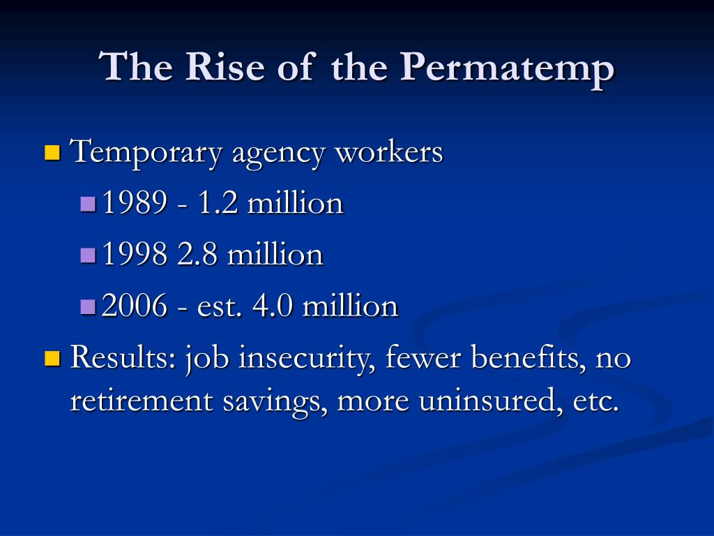 The Rise of the Permatemp
