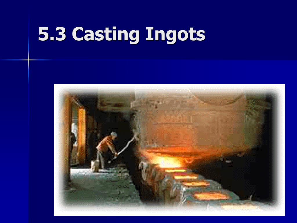 5.3 Casting Ingots