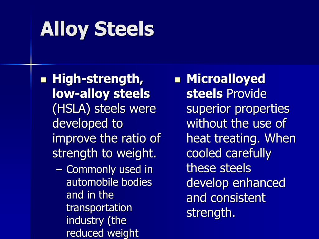 High-strength, low-alloy steels