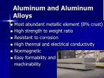 aluminum and aluminum alloys