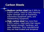 carbon steels36