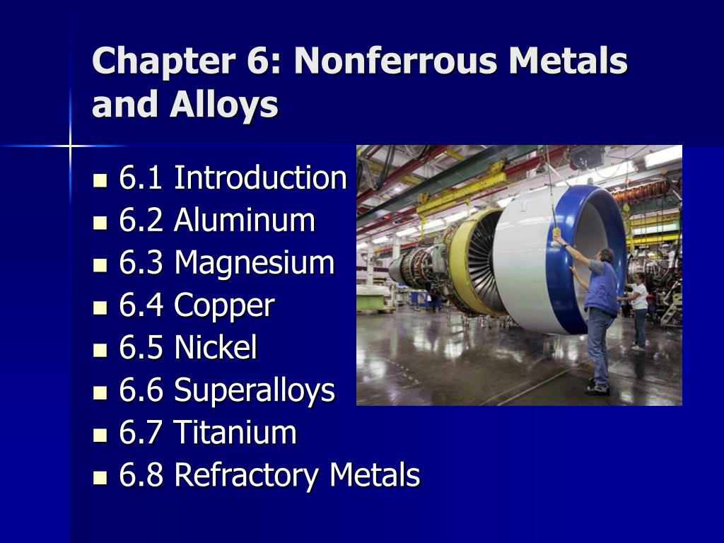 Chapter 6: Nonferrous Metals and Alloys