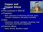 copper and copper alloys