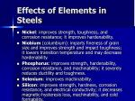 effects of elements in steels32