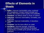 effects of elements in steels33