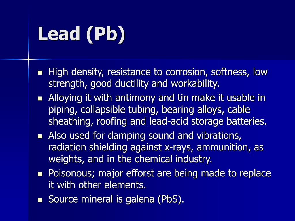 Lead (Pb)