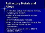 refractory metals and alloys