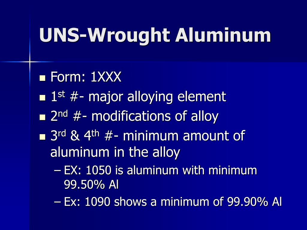 UNS-Wrought Aluminum