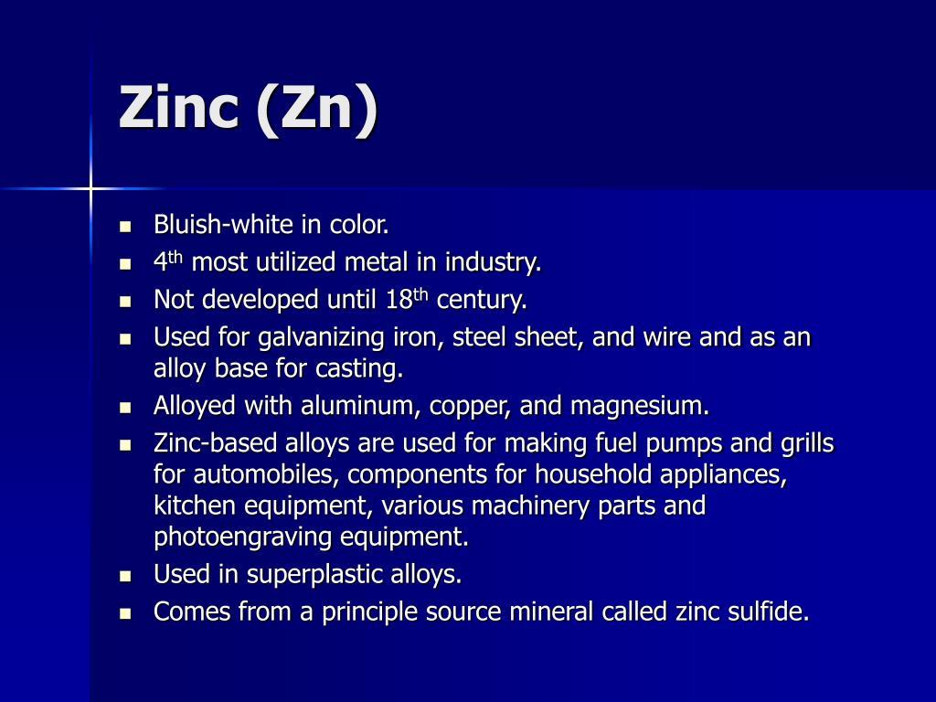 Zinc (Zn)