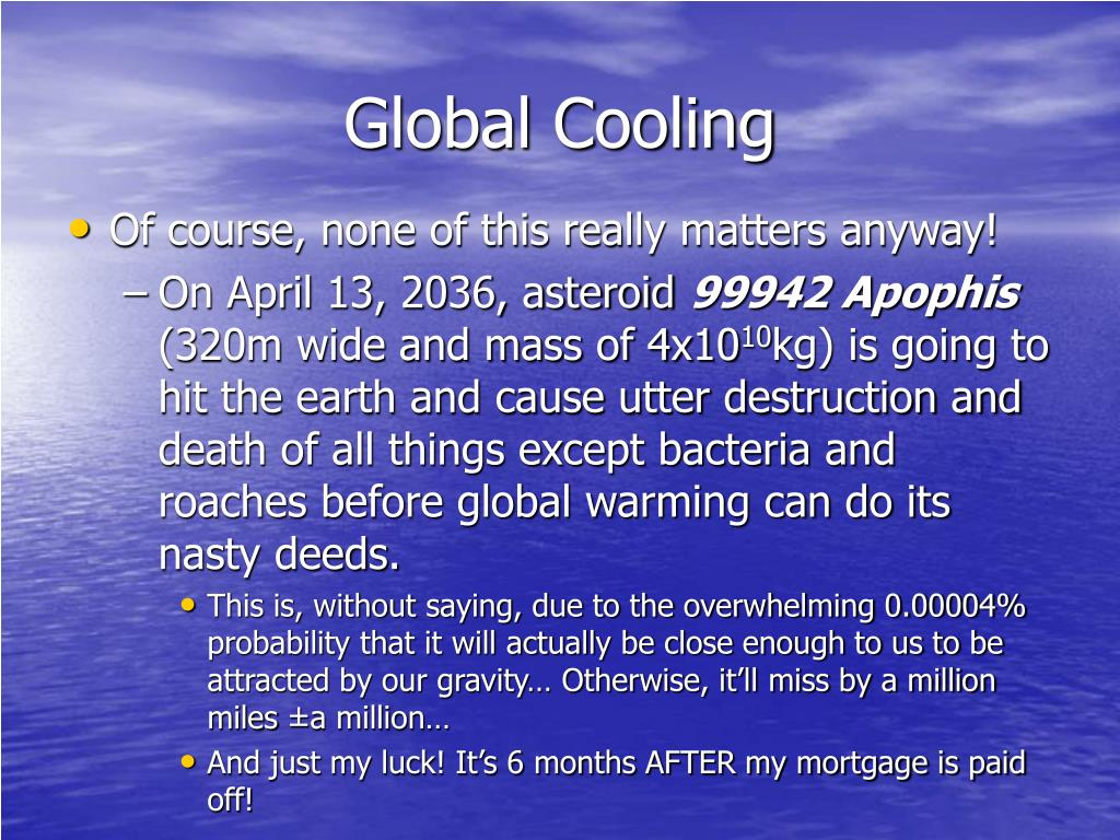 Global Cooling