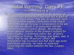 global warming claim 1 the world is heating up