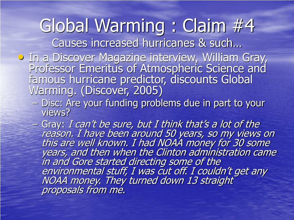 Global Warming : Claim #4