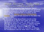 global warming media hype poor conclusions from poorer info57