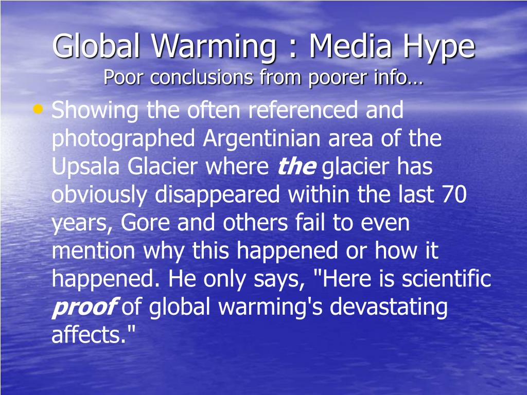Global Warming : Media Hype
