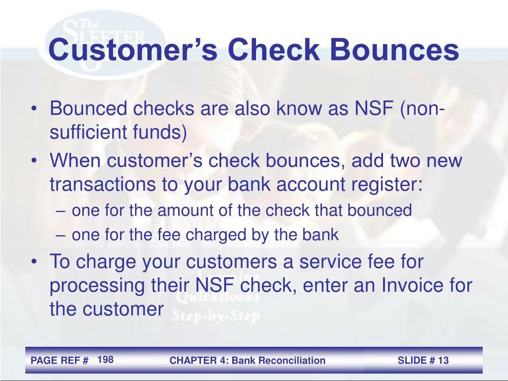 Customer's Check Bounces