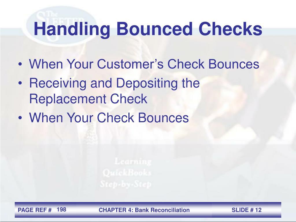 Handling Bounced Checks