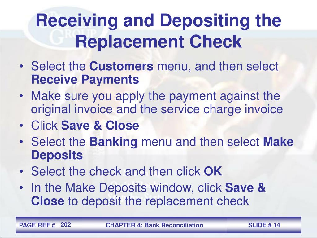 Receiving and Depositing the Replacement Check