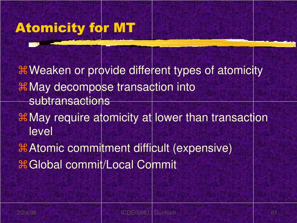 Atomicity for MT