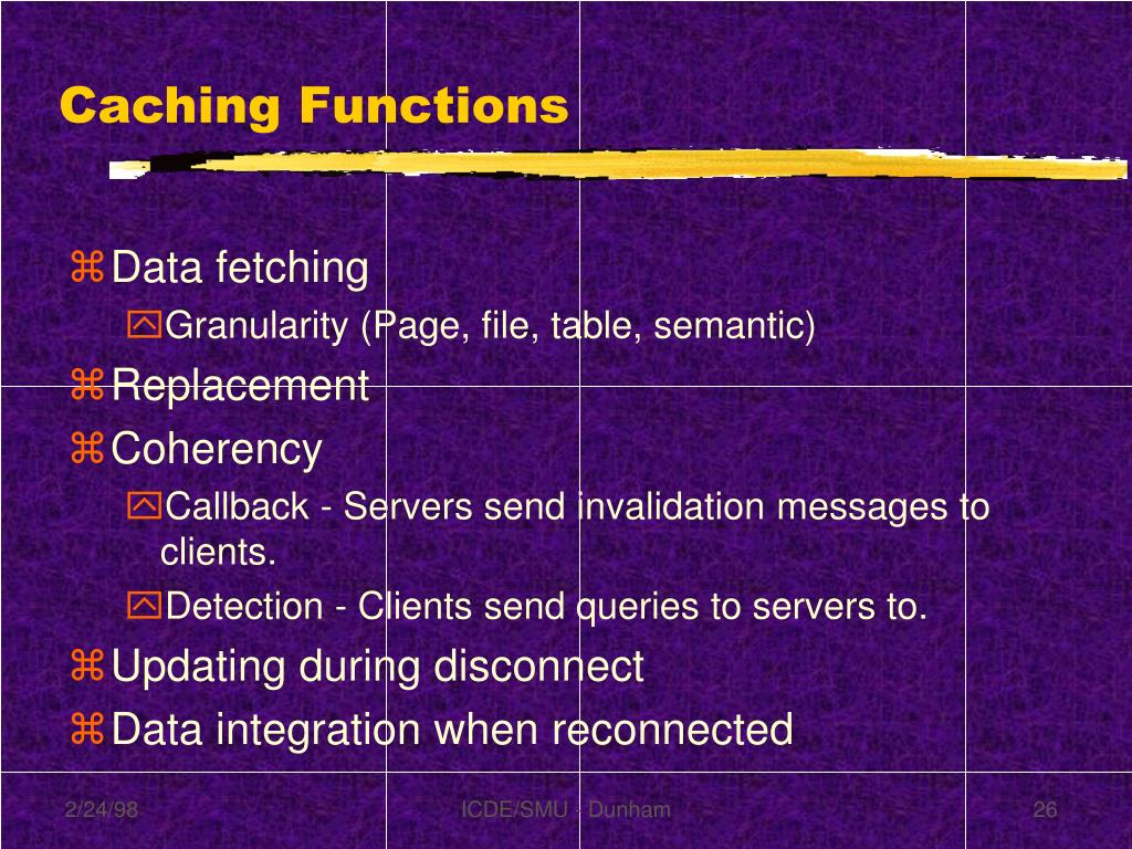 Caching Functions