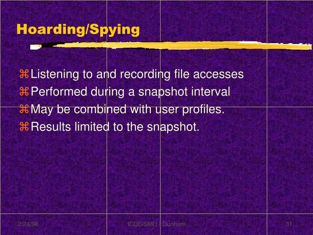 Hoarding/Spying